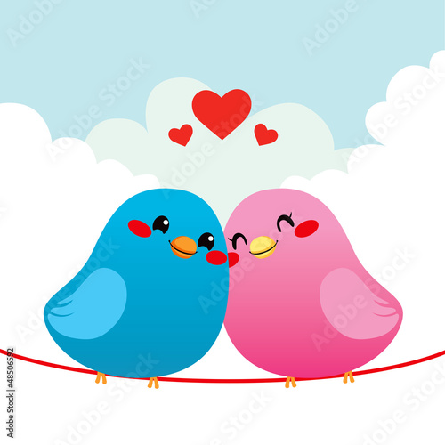 Loving Bird Couple
