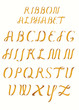 Ribbon alphabet