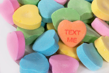 """Valentine Candy Hearts """"Text Me"""""""