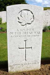 Canadian war grave from World War One
