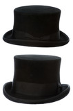top hat front and side view isolated