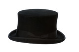 top hat side view isolated on white