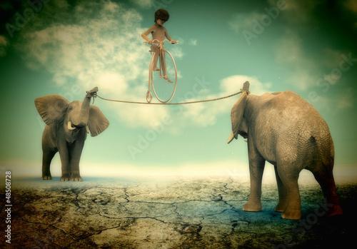 Fototapeten,phantasie,elefant,global,mundo