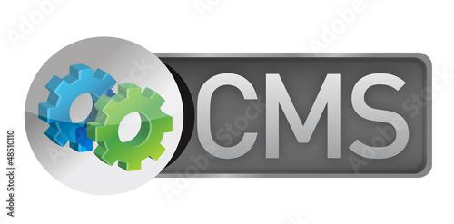CMS gears. content management system concept