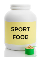 nutritional supplement for athletes in the form of protein