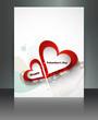 Valentine Days heart white  brochure celebration card illustrati