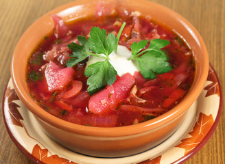 Ukrainian beetroot soup