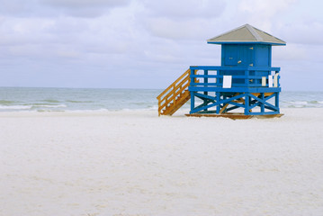 Lifeguard Hut Blue