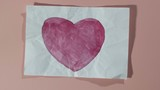 heart watercolor painting unwrapping