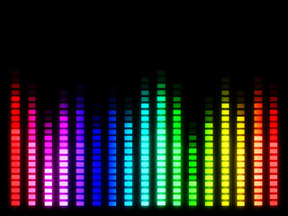 Colorful music volume