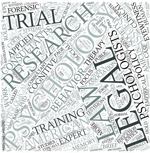 Legal psychology Disciplines Concept