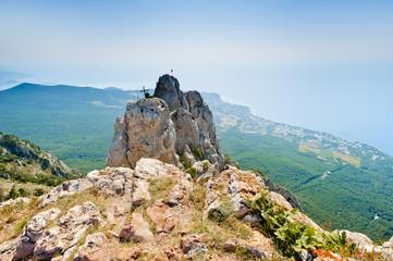 The top of Mount Ai-Petri on the Crimean peninsula