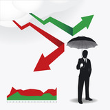Businessman in Umbrella creative Finance safe idea