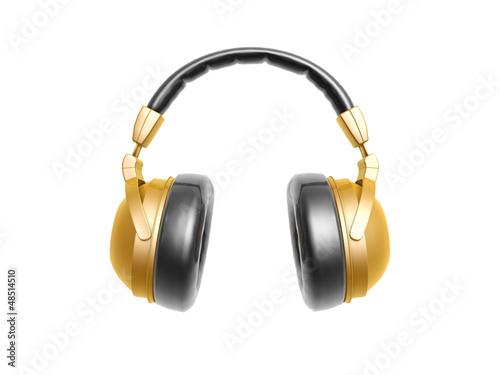 golden headphone
