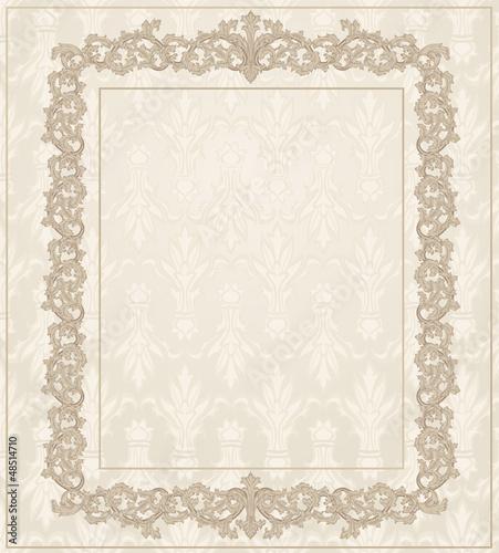 Classic Vintage frame floral ornament