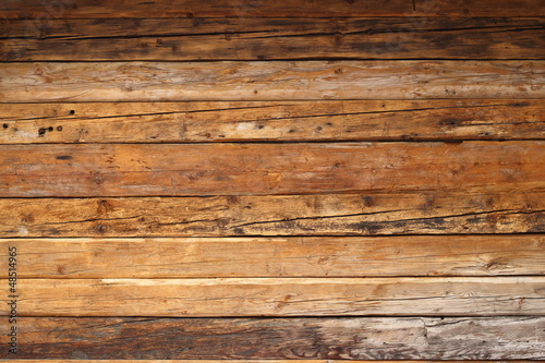 wood on a cabin