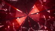 Spinning red shining diamond - looped 3d animation