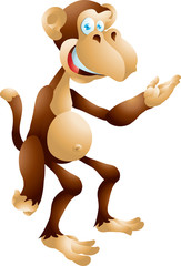 Monkey presenting