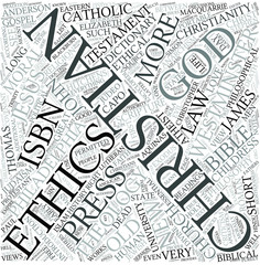 Christian ethics Disciplines Concept