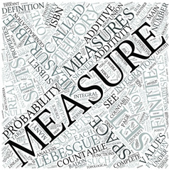 Measure theory Disciplines Concept