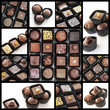 Chololate pralines collage