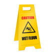 positioner caution wet floor