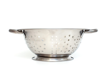 Single strainer on a white background.