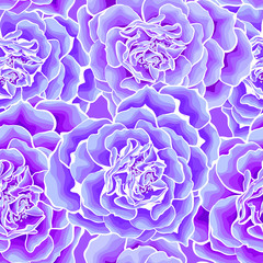 Neon blue roses heart seamless
