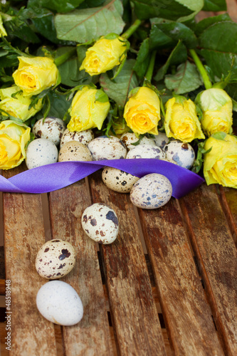 eggs and roses for easter