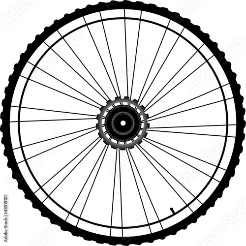 Leinwandbild Motiv Bicycle wheel isolated on white