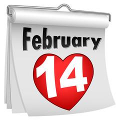 14 Feb Paper Flip Calendar