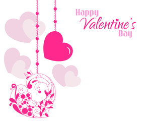 Valentine Beautiful Designer Hearts Background