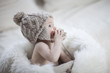 niemowlę w czapeczce