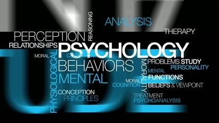 Psychology behaviors analysis word tag cloud video