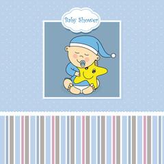 Tarjeta nacimiento bebe niño