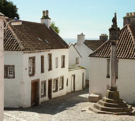 Culross Market Square. Scotland, UK