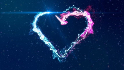 heart made from particles