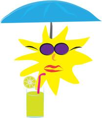 Sun drinking juice