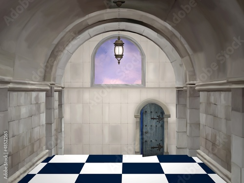 The hall - Digital painted illustration