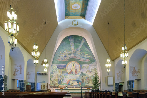 Interior of the Rovaniemi Church, Finland