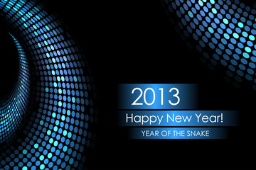Year of the water snake - vector background