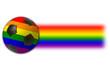 Gay Football with Rainbow