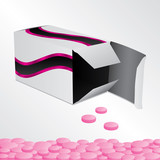 Box with pink pills