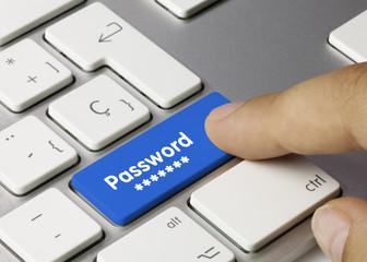 Password keyboard key. Finger