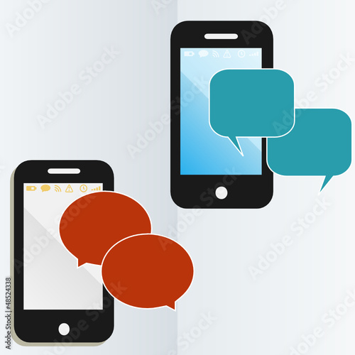 mobile phone communications graphic