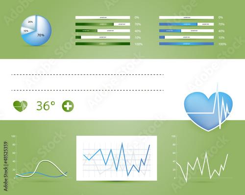 Medical infographics elements