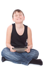 boy with a Tablet PC