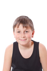 portrait of teen boy