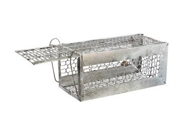 Mousetrap (rat cage) isolated on white background