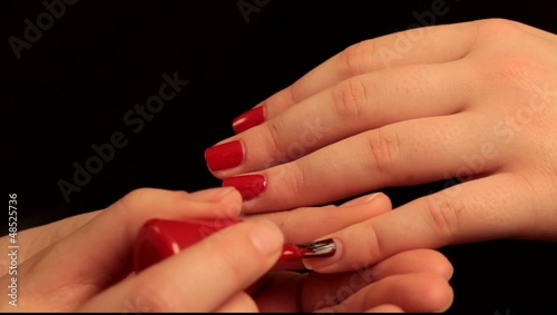 Nail polish in red